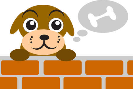 illustration of dog Vector