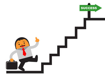 succes: succes motivation Illustration