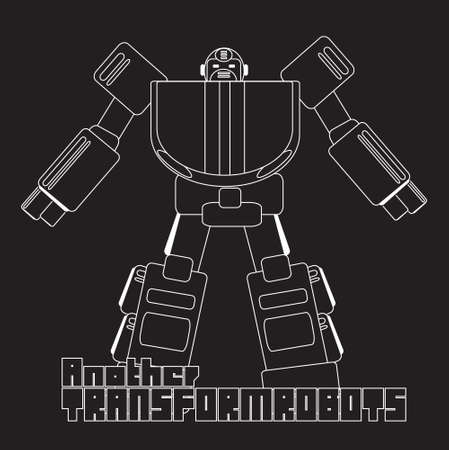 vector graphic of cool cartoon robot  robotic character Vector