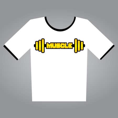 Body Builder T-Shirt Vettoriali