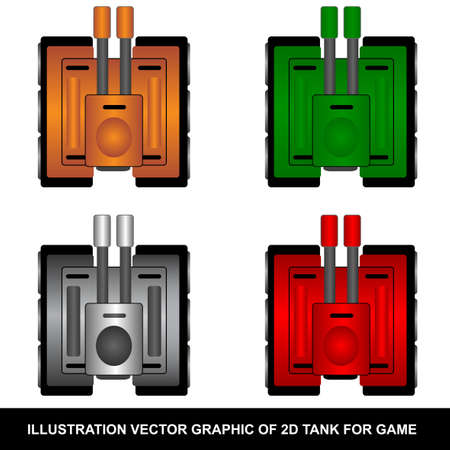 2D Tank Vector for Game Developer  Vector