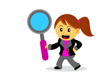 illustration of businesswoman cartoon character with her activity Stock Vector - 21308997