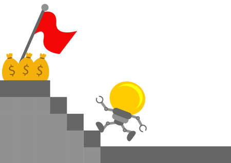 innovator: illustration vector graphic cartoon character of business idea Illustration