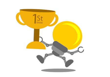 energy ranking: illustration vector graphic cartoon character of business idea Illustration