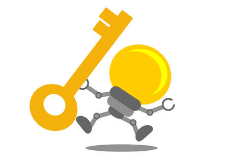 do it yourself: illustration vector graphic cartoon character of business idea Illustration
