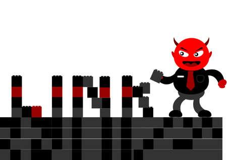 illustration vector graphic cartoon character of devil businessman Illustration