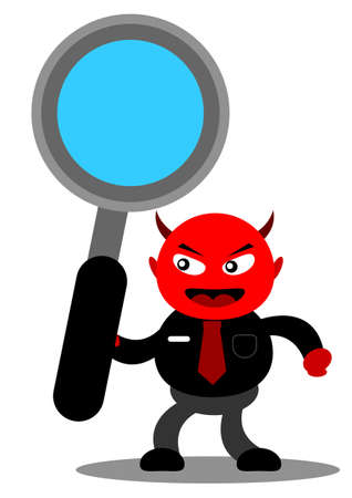 illustration vector graphic cartoon character of devil businessman Vector
