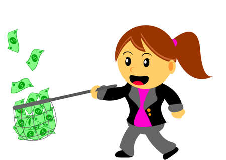 businesswoman in activity Vector
