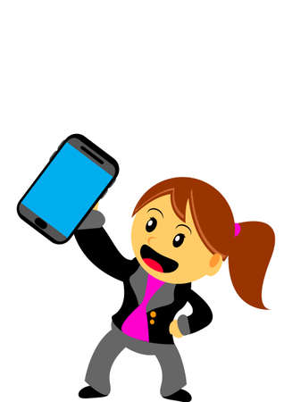 businesswoman in activity Stock Vector - 21601913