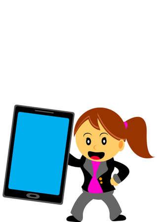 businesswoman in activity Stock Vector - 21601918