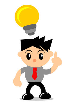 illustration vector graphic of cartoon character businessman in activity Stock Vector - 21769236