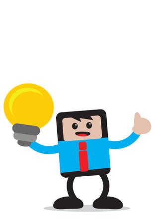 illustration vector graphic of businessman cartoon character in activity Stock Vector - 21848077