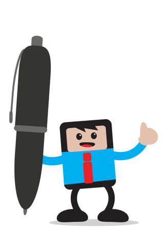illustration vector graphic of businessman cartoon character in activity Vector