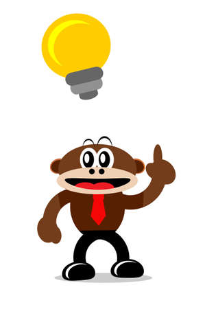 Illustration Vector Graphic Cartoon Character of Monkey in Business Themes Stock Vector - 21912214
