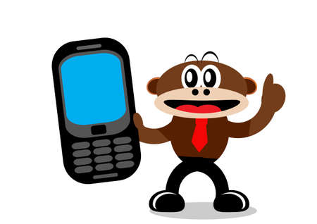 Illustration Vector Graphic Cartoon Character of Monkey   Vector