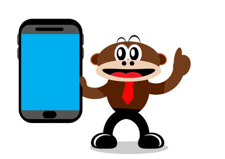 Illustration Vector Graphic Cartoon Character of Monkey in Business Themes Vector