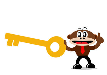 Illustration Vector Graphic Cartoon Character of Monkey Stock Vector - 21912227