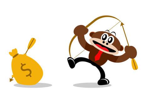 Illustration Vector Graphic Cartoon Character of Monkey Stock Vector - 21912262
