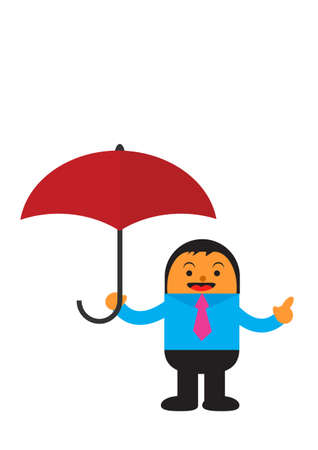illustration vector graphic cartoon character of businessman in activity Vector