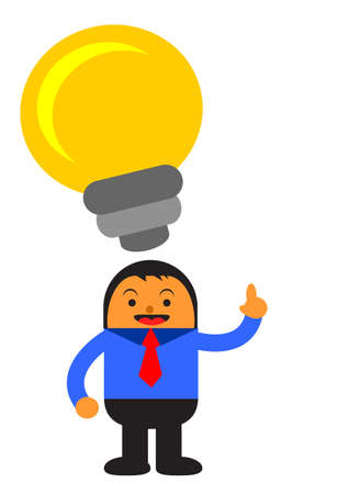 illustration vector graphic cartoon character of businessman in activity Stock Vector - 22070475