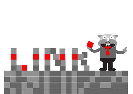 illutration  cartoon character of Rhino Businessman in activity Stock Vector - 22402216