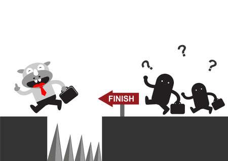illutration cartoon character of Rhino Businessman in activity Stock Vector - 22402223