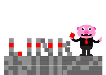illustration graphic of piggy in business activity Stock Vector - 22402724