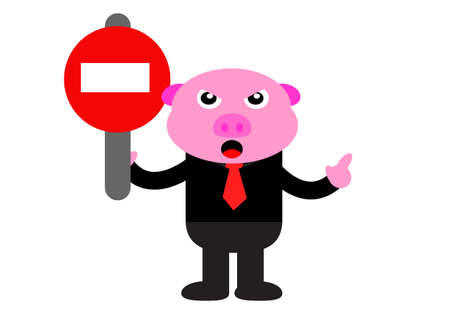 illustration vector graphic of piggy in business activity Stock Vector - 22402860