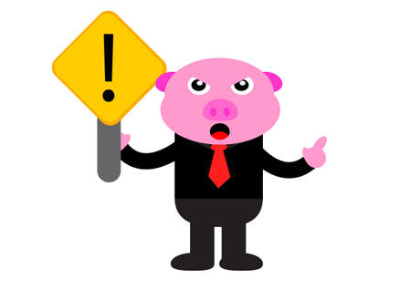 illustration graphic of piggy in business activity Stock Vector - 22402890