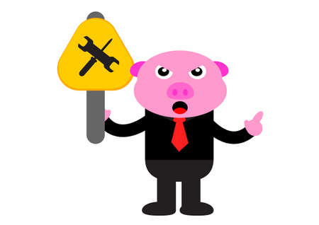 illustration graphic of piggy in business activity Stock Vector - 22402894