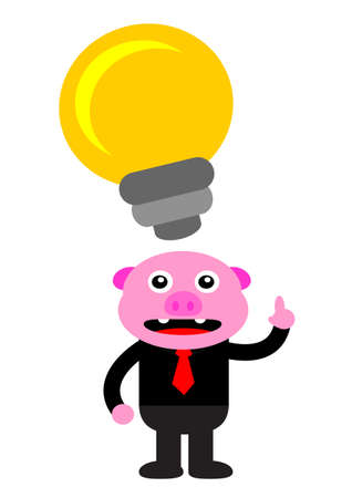 illustration vector graphic of piggy in business activity Stock Vector - 22402900