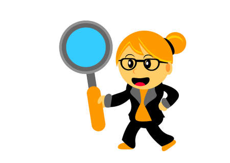 clues: Illustration of Chibi Woman Cartoon Character in Activity