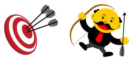 illustration vector graphic cartoon character of businessman in activity Illustration