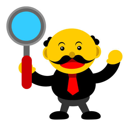 illustration vector graphic cartoon character of businessman in activity Stock Vector - 24233339