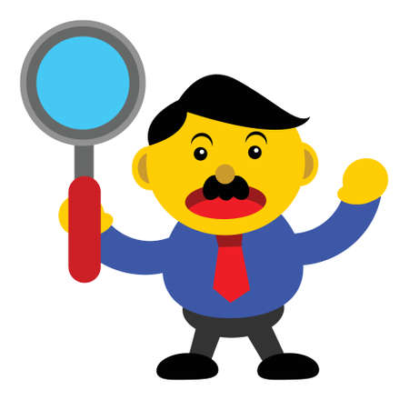 illustration vector graphic cartoon character of businessman in activity Stock Vector - 24546353