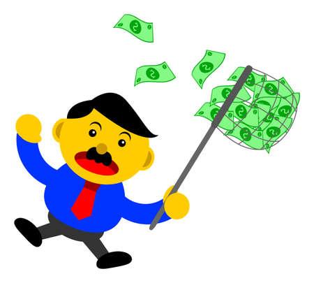 motivator: illustration vector graphic cartoon character of businessman in activity Illustration