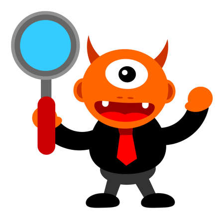illustration of monster cartoon character in business activity Stock Vector - 24814228