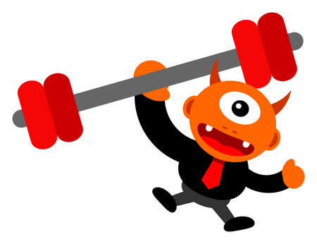 illustration of monster cartoon character in business activity Stock Vector - 24814243