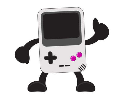 illustration vector graphic cartoon character of portable video game Vector