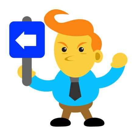 illustration cartoon character of businessman Vector