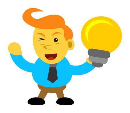 innovator: businessman cartoon character