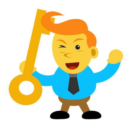 motivator: cartoon character of businessman