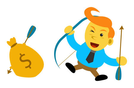 cartoon character of businessman