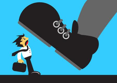 qualify: oppressed businessman Illustration