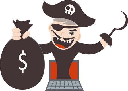 Cyber Pirates Illustration