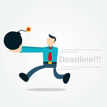 Businessman Running Bring a Bomb