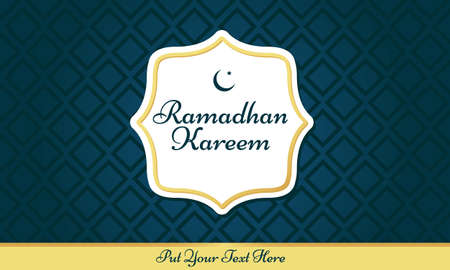 Illustration vector graphic of Ramadhan background design. Suitable for Islamic product.