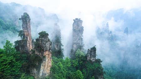 장가계 우링 위안 삼림 공원 스톡 콘텐츠