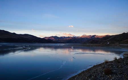 Yamdrok Lake Stock Photo