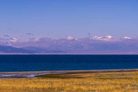 Sayram Lake landscape scenery view